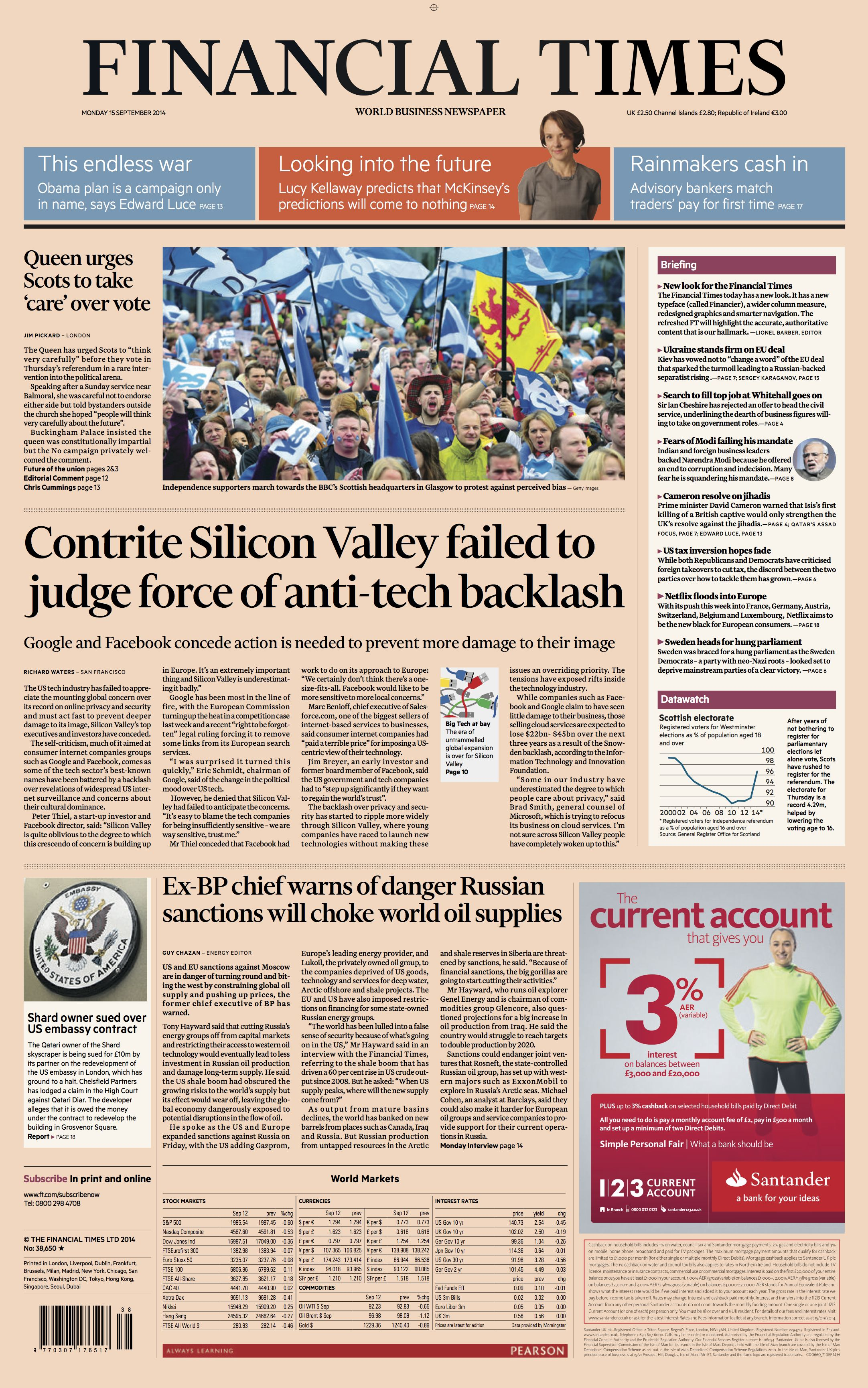 blog  financial times  a classic redesign for the digital