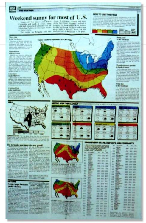 Blog USA TODAY Turns Part A Weather Map That Created A - Todays weather map us
