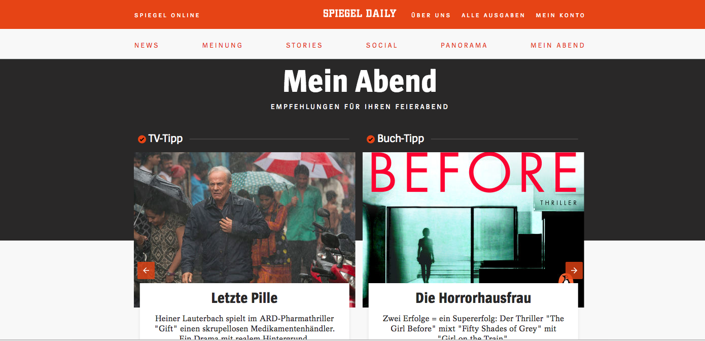 Blog spiegel daily the german magazine s new product for Spiegel daily