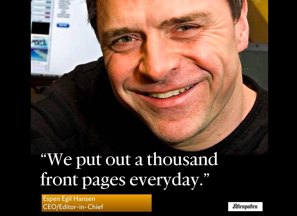Espen Egil Hansen: man of a thousand daily front pages | García Media