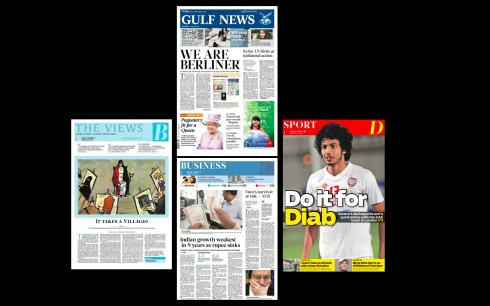 Here is your new Gulf News: Berliner format, new look