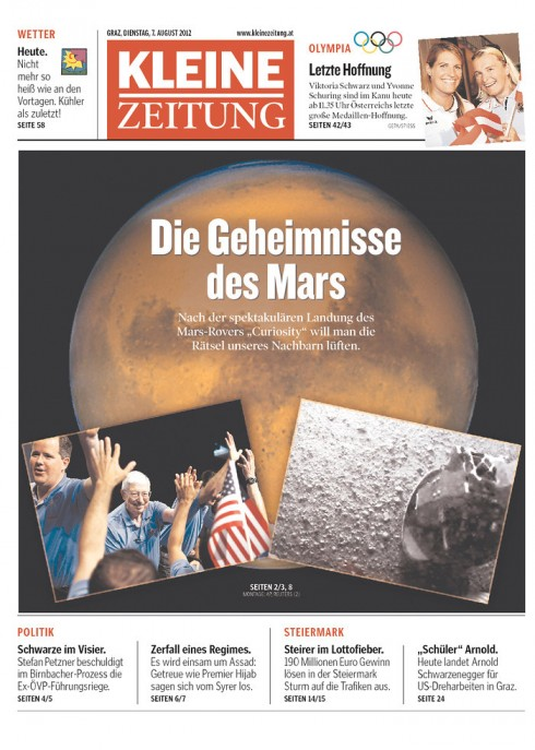 Mars Landing And Those Front Pages Garc 237 A Media