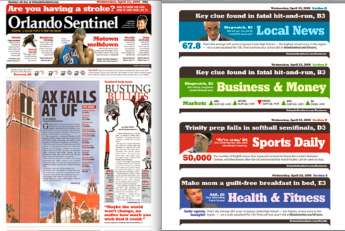 Orlando sentinel garc a media for News section design